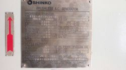 SHINKO 6200KW 60HZ 3300V 600RPM ALTERNATOR X 2